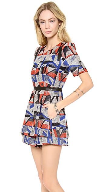 Milly Graphic Print Romper