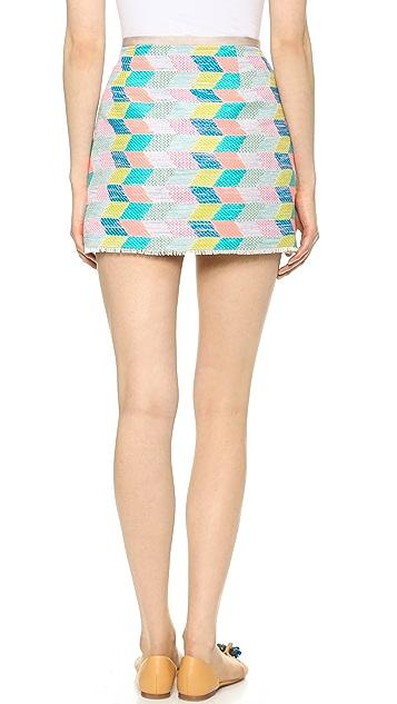 Milly Chevron Miniskirt