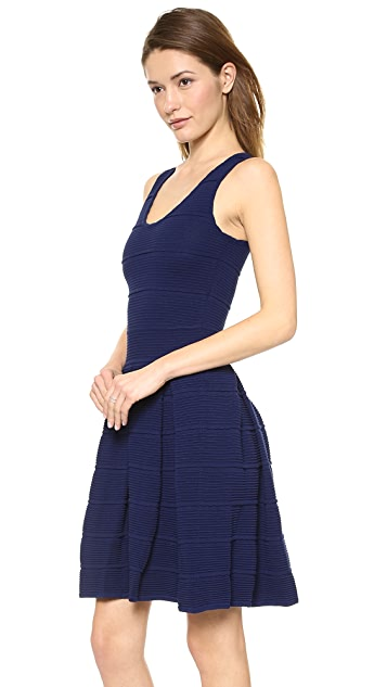 Milly Ottoman Pleated Stretch Dress