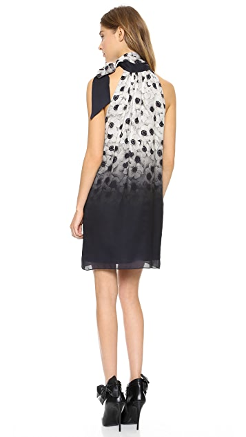 Milly Camellia Tie Neck Dress