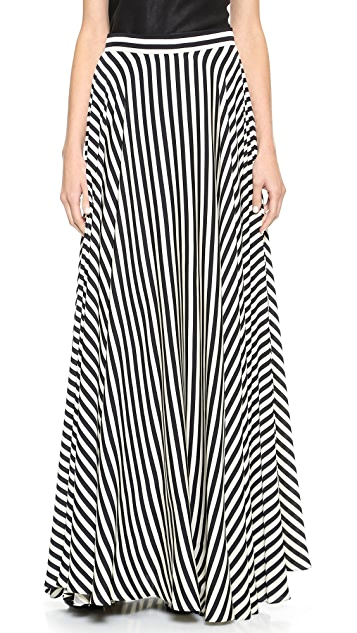 Milly Striped Maxi Skirt