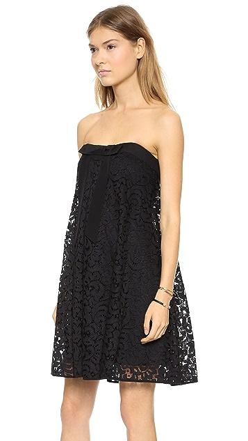 Milly Lace Trapeze Dress