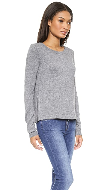 Milly Ostrich Plume Sweater