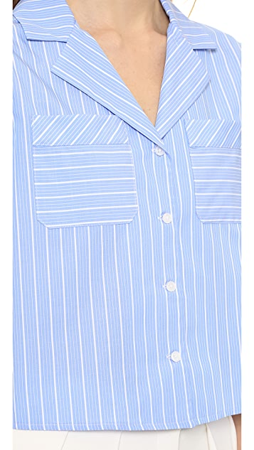 Milly Striped Camp Shirt