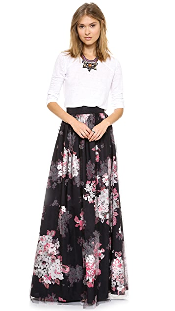 Milly Katie Ball Maxi Skirt