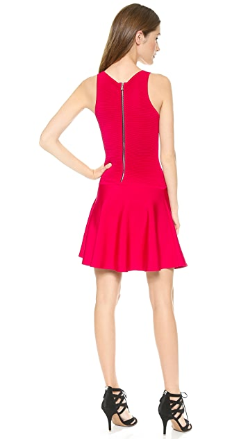 Milly Ottoman Fit & Flare Dress