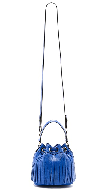Milly Essex Fringe Small Bucket Bag
