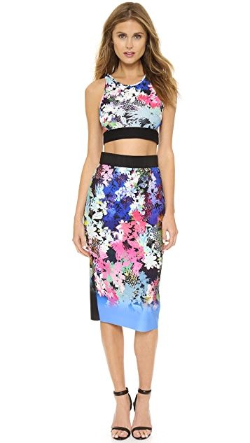 5afc4c6f9 Milly Ombre Floral Print Midi Skirt | SHOPBOP