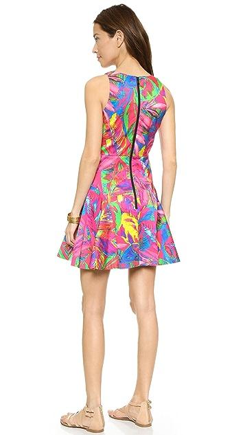 Milly Платье с оборками и принтом