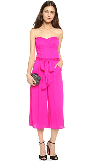 Milly Strapless Culotte Jumpsuit
