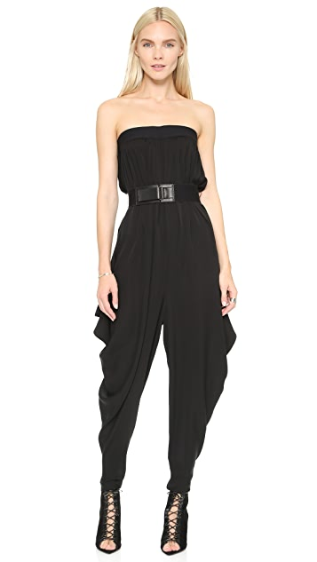 Milly Strapless Isosceles Jumpsuit