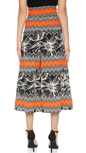 Milly Tropical Jacquard Culottes