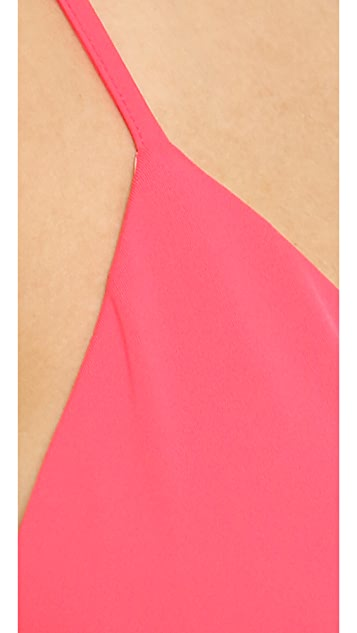 Milly Italian Solid Capri Bikini Top