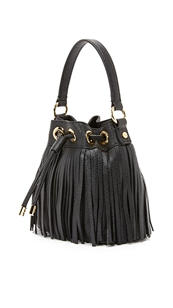 Milly Essex Small Fringe Bucket Bag