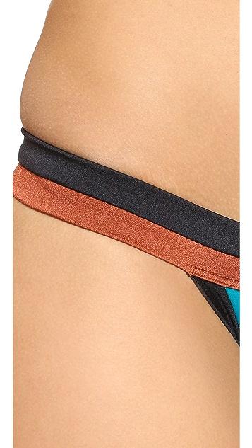 Milly Solid Swim Amalfi Colorblock Bikini Bottoms
