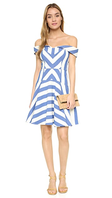 Milly Graphic Stripe Mariella Dress
