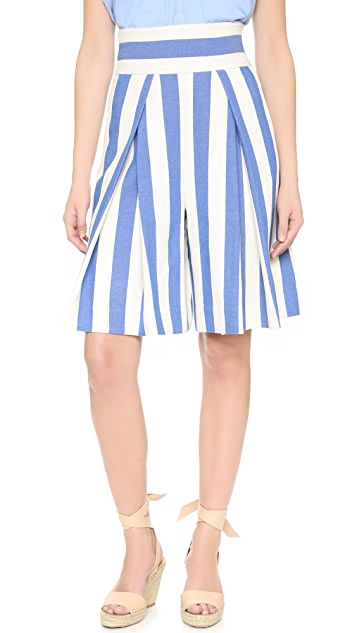 Milly Graphic Stripe Crop Culottes   SHOPBOP