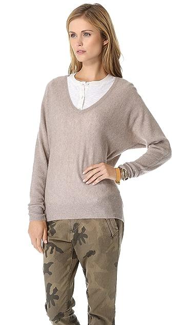 Minnie Rose Dolman Cashmere Sweater
