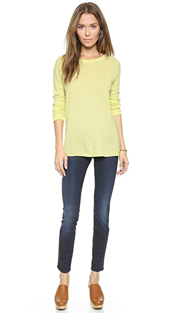 Minnie Rose Relaxed Cashmere Pullover