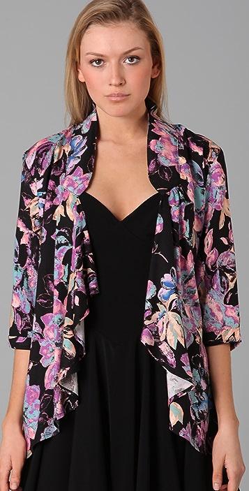 MINKPINK Neon Floral Blazer