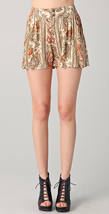 MINKPINK Prince of Persia Paisley Shorts