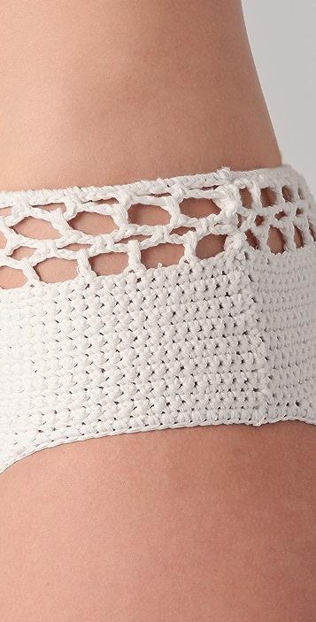 MINKPINK Avalon Crochet Bikini Bottoms