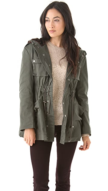 MINKPINK Enlisted Anorak Coat