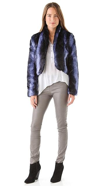 MINKPINK Inked Faux Fur Jacket