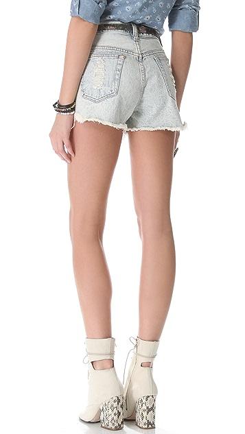 MINKPINK Slasher Flick Acid Washed Shorts