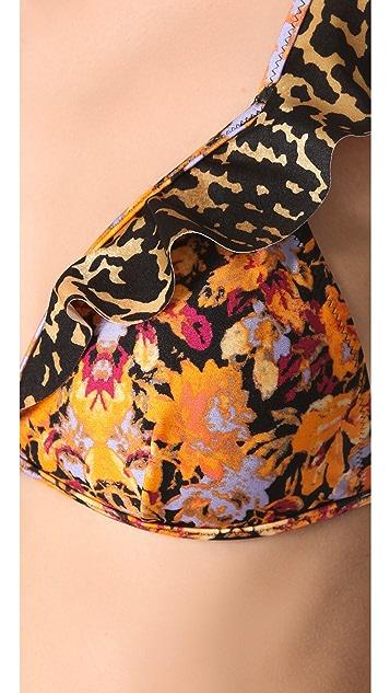 MINKPINK Celine Ruffle Bikini Top