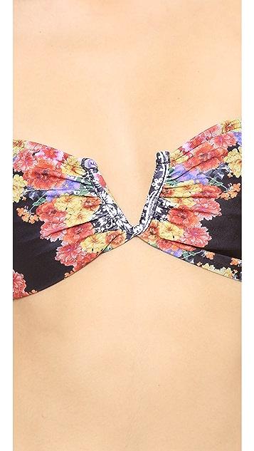 MINKPINK Lacey's Choice V Wire Bandeau Bikini Top