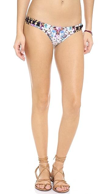 MINKPINK Animal Fleur Bikini Bottoms