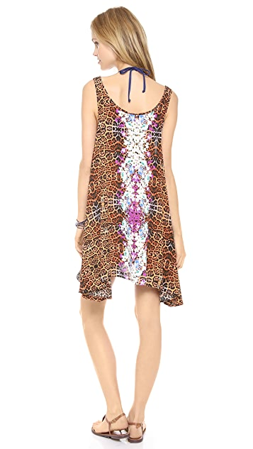 MINKPINK Animal Fleur Cover Up Dress