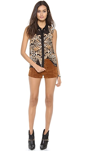 MINKPINK Jungle Jamboree Sleeveless Shirt