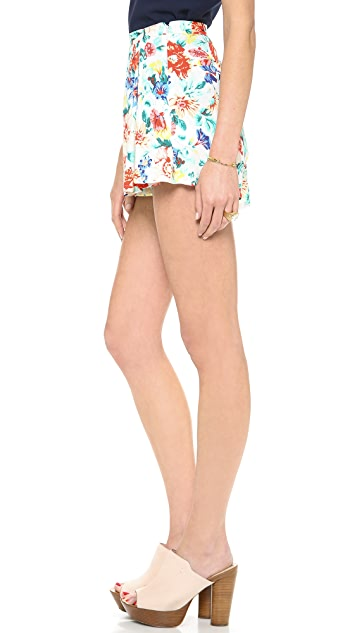MINKPINK Flower Crush Box Pleat Shorts