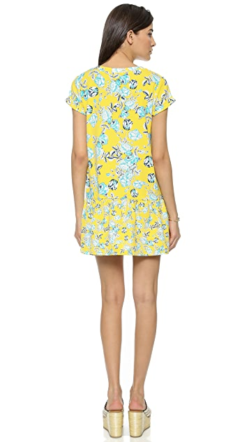 MINKPINK Citrus Floral Drop Waist Dress