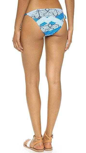 MINKPINK Indigo Waters Side Tie Bikini Bottoms