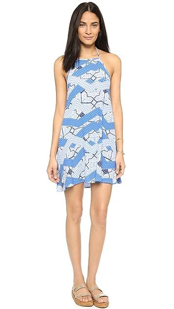 MINKPINK Indigo Waters Halter Dress
