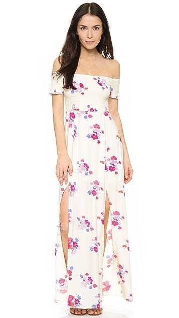 MINKPINK Off Shoulder Maxi Dress