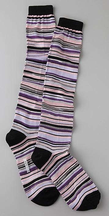 Missoni Striped Knee Socks