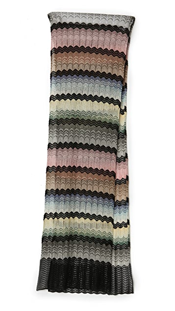 Missoni Wave Print Lurex Scarf