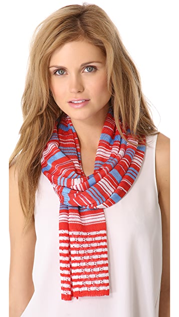 Missoni Thin Striped Scarf