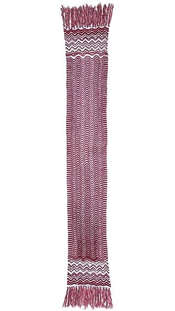Missoni Knit Zigzag Scarf