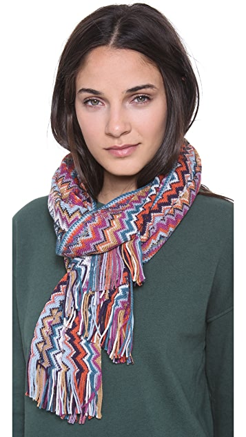 Missoni Multi Zigzag Sweater Scarf