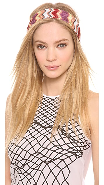 Missoni Zigzag Knit Headband