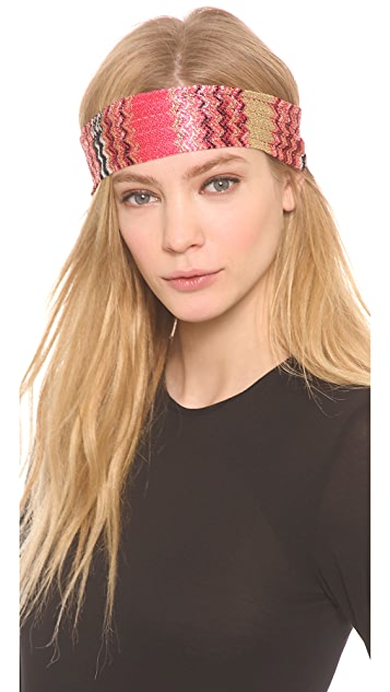 Missoni Knit Metallic Headband