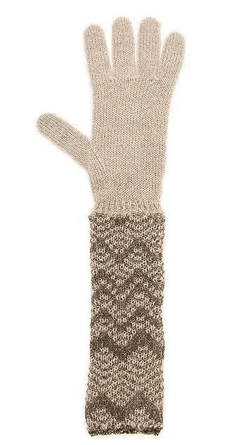 Missoni Woven Chevron Gloves