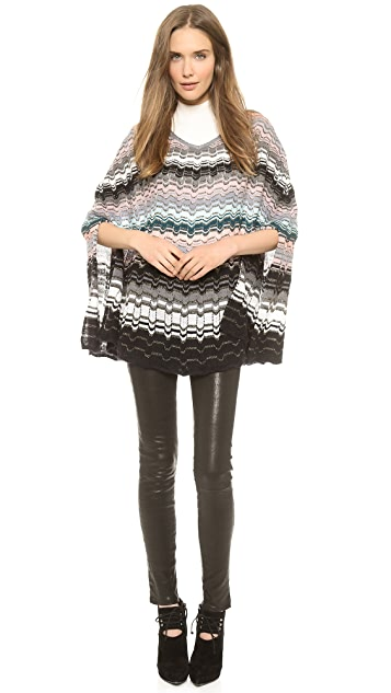 Missoni Pointelle Colordrip Poncho