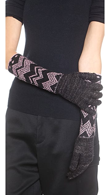 Missoni Polka Dot Zigzag Gloves