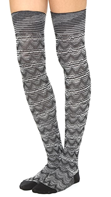 Missoni Knit Thigh High Socks